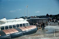 The SRN6 with Hovertravel - Arrived at the Ryde hover terminal (Pat Lawrence).